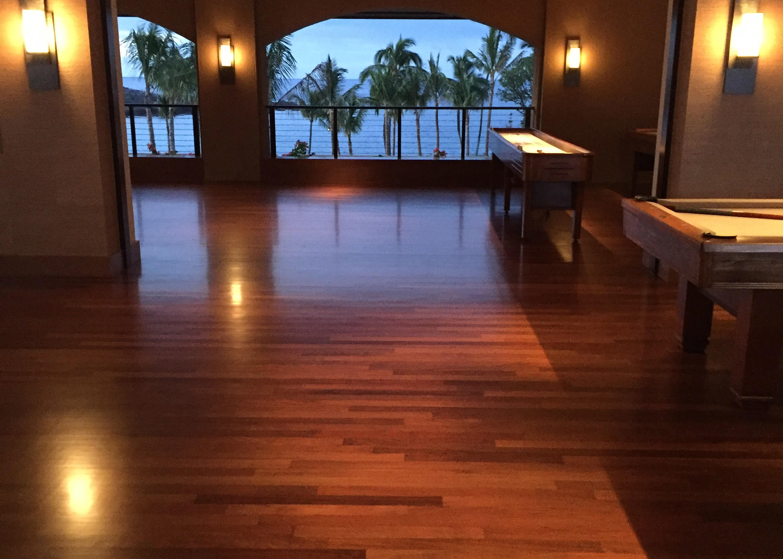 Superb Ipe Hardwood In Game Room At Four Seasons In Wailea Maui
