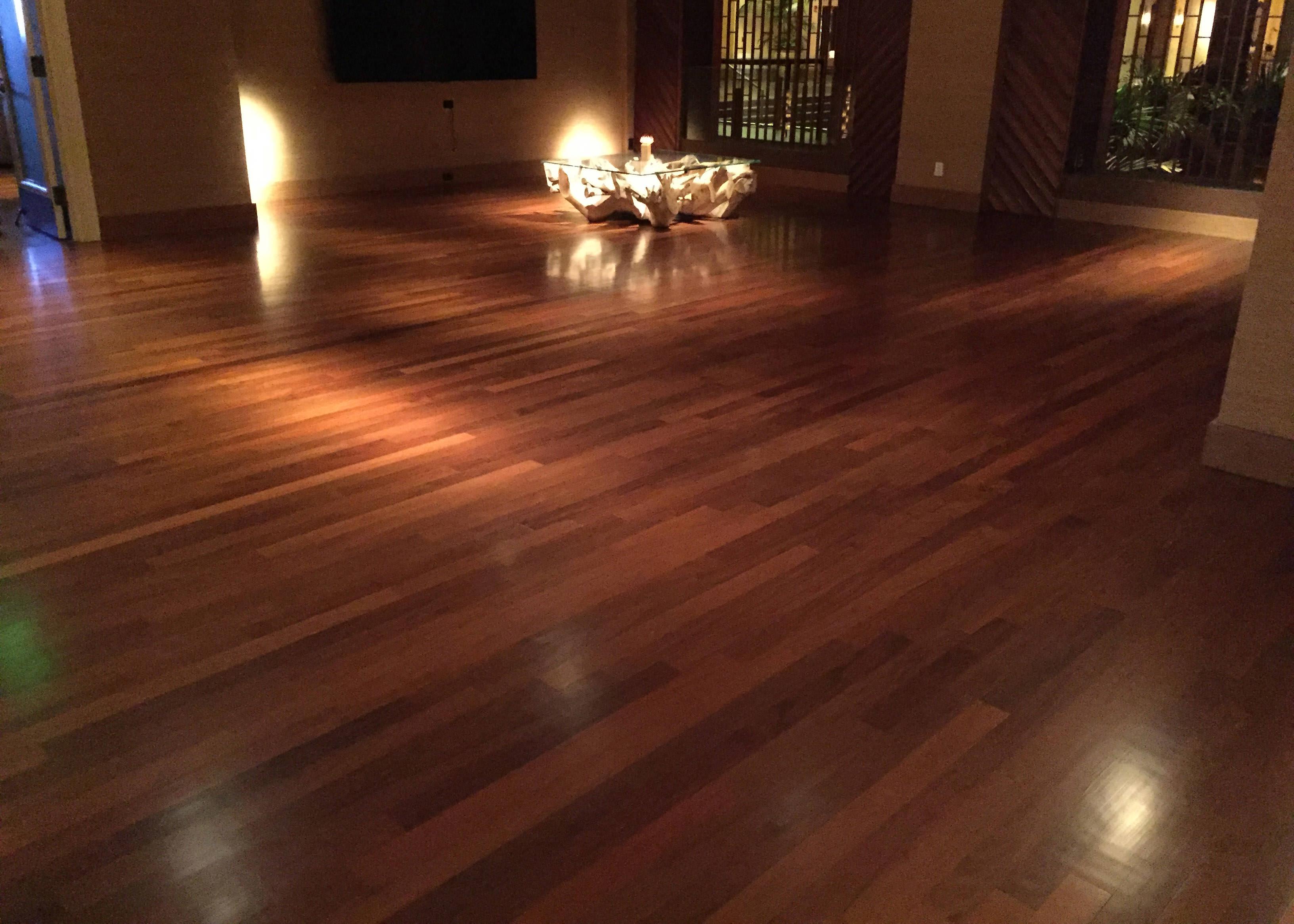... Ipe Hardwood Flooring In Sitting Area At Four Seasons In Wailea Maui